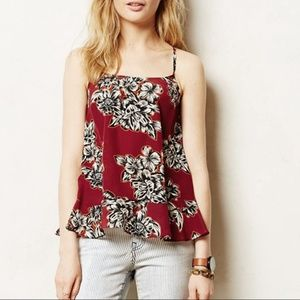 Anthropologie Maeve Zabella Silk Blouse Tank SZ 2